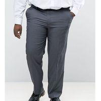 Duke plus smart trousers in grey - grey