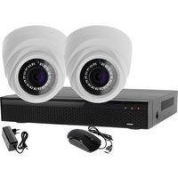 Monitoring 2 kamery zestaw: rejestrator 4 kanałowy lv-xvr44n + 2x kamera lv-al1m2fdpwh marki Ivelset