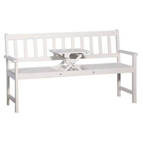 Drewniana ławka ogrodowa Gant - biała