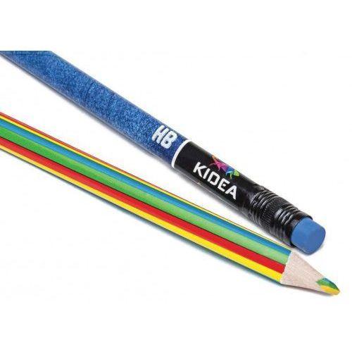Derform Kredki trójkątne jumbo 14 kolorów + ołówek + magiczna kredka