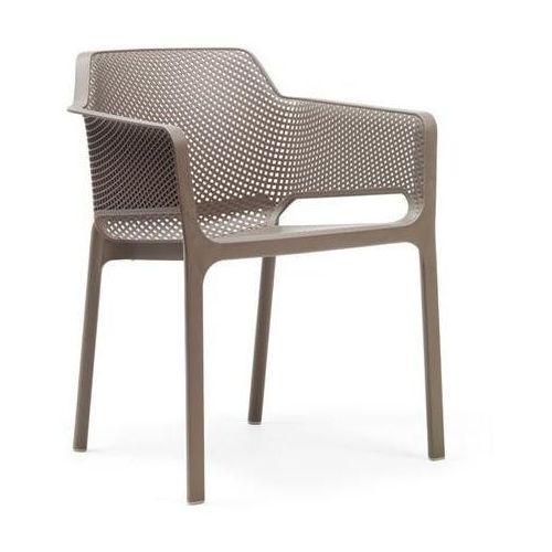 Krzesło Net beżowe, kolor beżowy