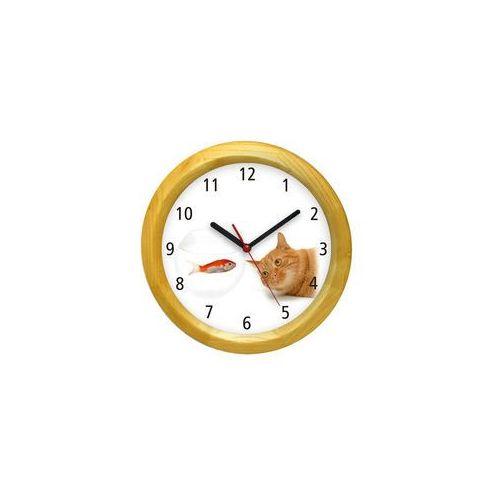 Zegar ścienny drewniany kotek #1 marki Atrix