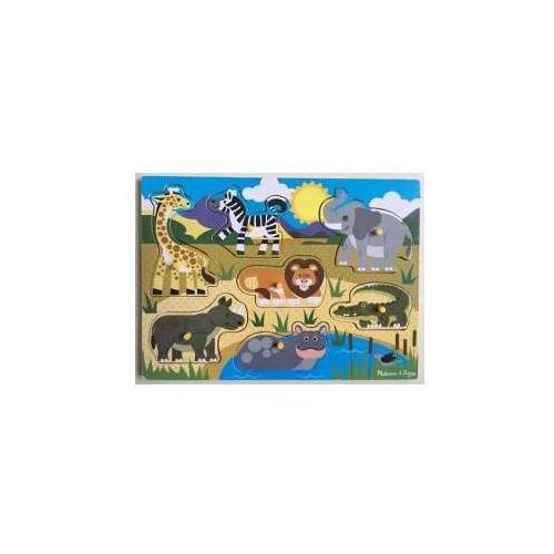 Melissa & doug Puzzle drewniane - safari 19054
