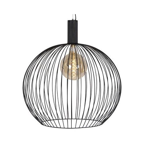 Eth Nowoczesna okrągła lampa wisząca czarna 70 cm - wire