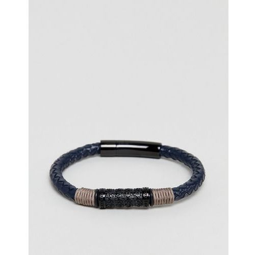 Seven london leather bracelet in black - black