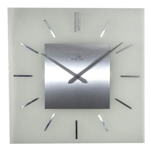 Zegar ścienny stripe radio controlled kwadratowy marki Nextime