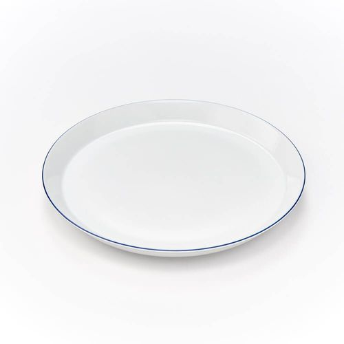 Talerz płytki porcelanowy bistro - śr. 26 cm marki Karolina