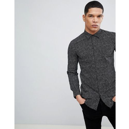 Antony Morato Shirt With Mini Circle Dot Print - Black