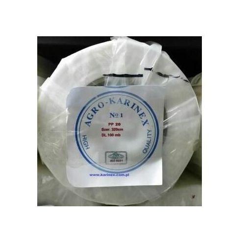 Agrowłóknina wiosenna pp 20 g/m2 biała 3,2 x 100 mb. rolka o szer. 320 cm marki Agrokarinex