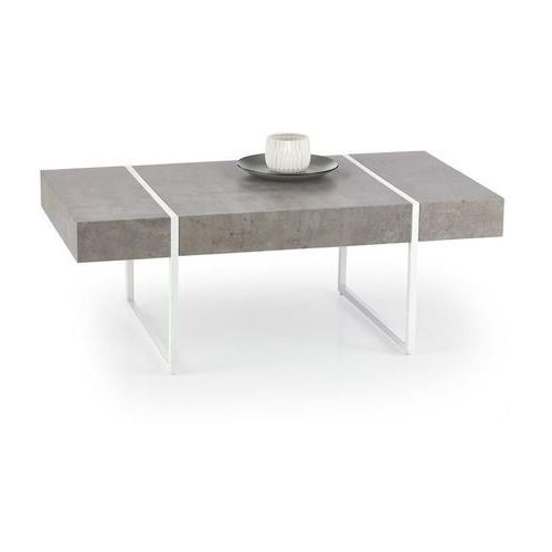 Promocja - ława tiffany 110x60 beton/biały ★ 98% zadowolonych klientów - sprawdż! marki Halmar