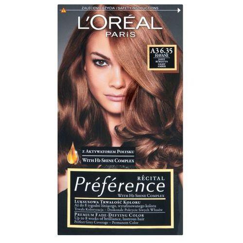 Recital Preference farba do włosów nr 6,35 A3 Havane - L'Oreal Paris DARMOWA DOSTAWA KIOSK RUCHU (3600010014898)