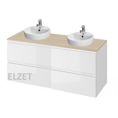 CERSANIT szafka Moduo biały połysk pod 2 umywalki nablatowe + blat 120 2xS929-010+S590-025