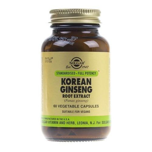 Kapsułki Solgar Żeń-szeń koreański (Korean Ginseng) - 60 kapsułek