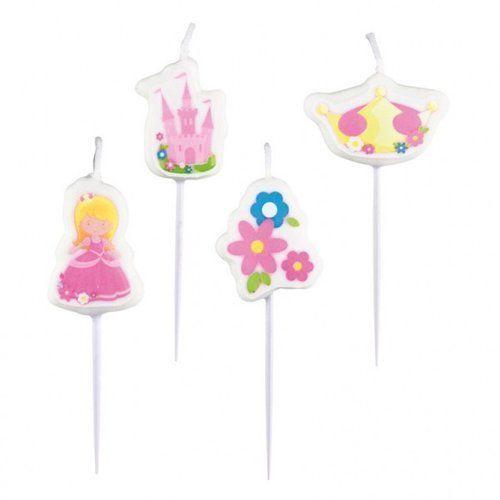 Amscan Mini świeczki księżniczka, 4 sztuki (0013051627522)