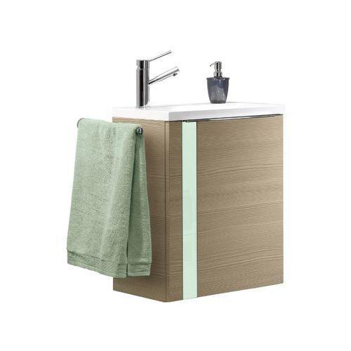 Szafka łazienkowa sosna z umywalką vedro 50 - miętowa \ 50 cm \ sosna marki Lanzet
