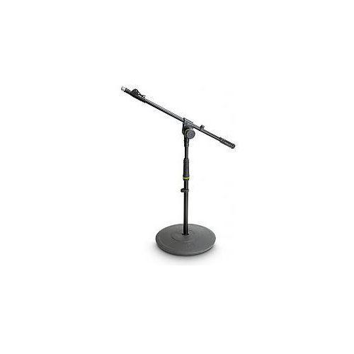 Gravity  ms 2212 b - statyw mikrofonowy, short microphone stand with round base and 1-point adjustment telescoping boom, kategoria: pozostałe dj i karaoke