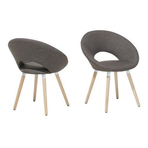 Zestaw do jadalni 2 krzesła szaro-brązowe ROSLYN, kolor brązowy