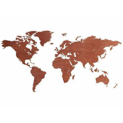 Congee.pl Duża dekoracja drewniana na ścianę mapa świata z granicami państw (5907509940798)