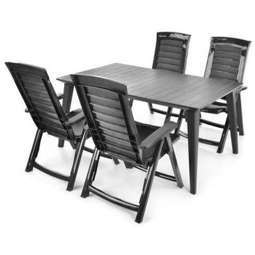 Hecht czechy Hecht jardin graphite 4 meble ogrodowe zestaw mebli ogrodowych stół + 4 krzesła - ewimax oficjalny dystrybutor - autoryzowany dealer hecht (8595614928649)