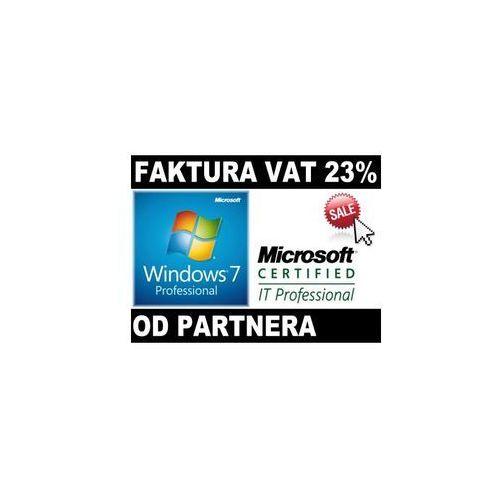 OKAZJA - windows 7 profesional pl coa od partnera microsoft 32/64bit fv23% marki Microsoft