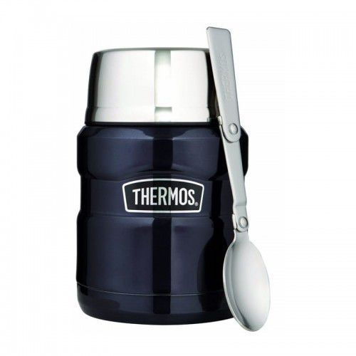 Thermos ® - termos obiadowy ze składaną łyżką - ciemnoniebieski