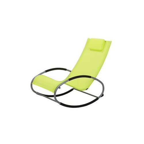 Fotel ogrodowy bujany limonkowy CAMPO (4251682217613)