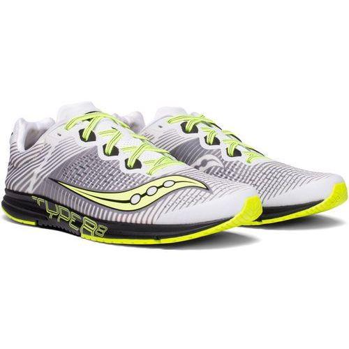 Saucony type a8 buty do biegania mężczyźni żółty/szary us 12 | 46,5 2018 szosowe buty do biegania