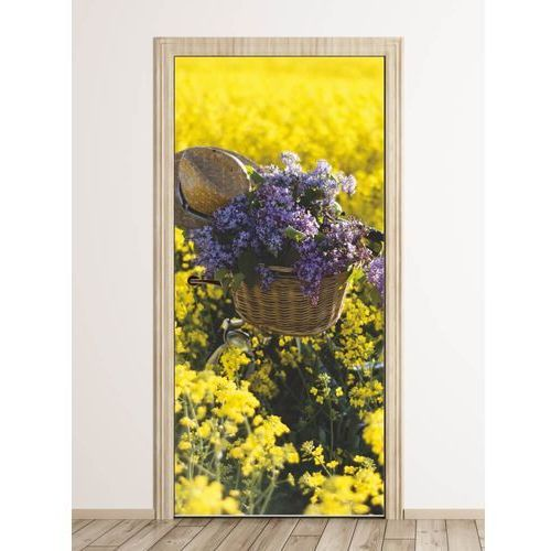Fototapeta na drzwi rower pośród kwiatów FP 6281