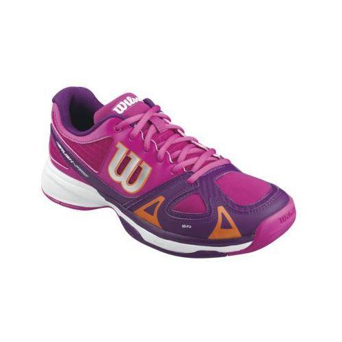 Wilson Rush Pro Junior - fiesta pink/dark plumberry/clementine z kategorii Tenis i pokrewne