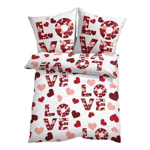 Pościel z napisem Love bonprix czerwony, kolor czerwony