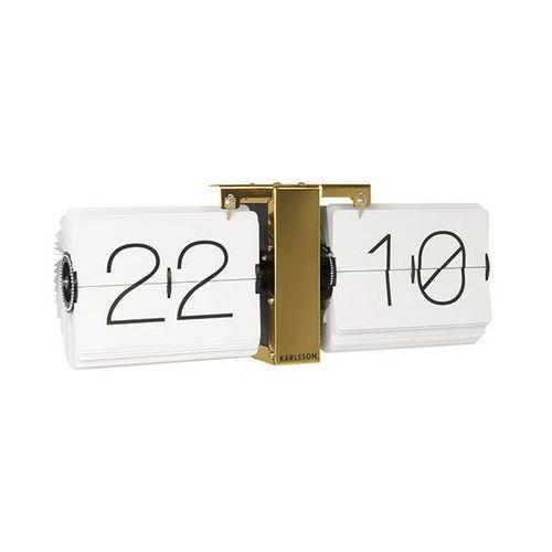 Karlsson:: Zegar ścienny Flip Clock złoty - złoty
