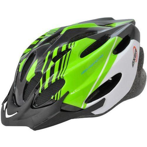 Axer bike Kask rowerowy axer sport a1457 voyager shiny zielono-biały (rozmiar l) (5901780914578)