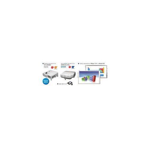 Profesjonalny zestaw panoramiczny IPBoard 101 DUAL + projektor krótkoogniskowy Epson EB-425W EDU lub NEC M260WS EDU + uchwyt ścienny + kabel VGA 10m