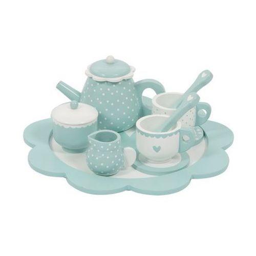Tea Set - Drewniany zestaw do herbaty - Miętowy - Little Dutch