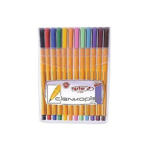 Rystor Cienkopisy rc-04 12 kolorów w etui