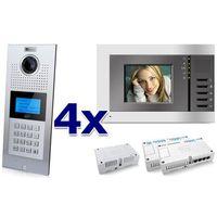 Zestaw wideodomofonowy 4 rodzinny panel c5 c9e21l-c, 4x monitor c5 v3, akcesoria marki Genway