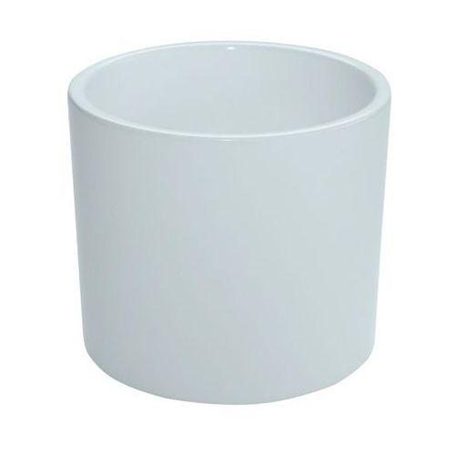 Ceramik Osłonka ceramiczna 23 cm biała walec