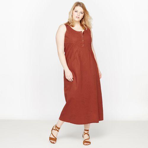 dc290e0783 Długa sukienka z lnu i bawełny marki Castaluna