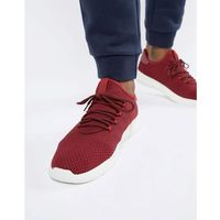 knitted detail trainers in burgundy - red marki New look