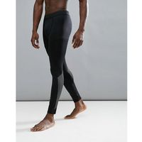 sport reflective tights with print in black - black marki New look
