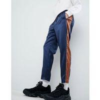 joggers in navy sateen - navy marki Mennace