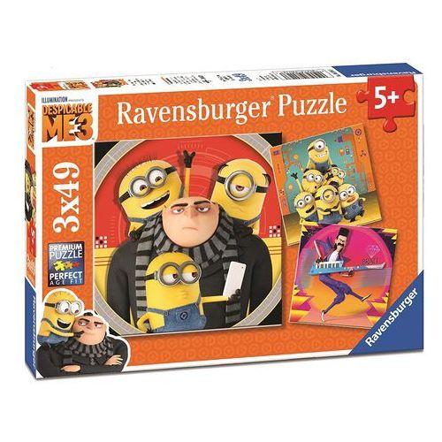 Ravensburger Puzzle Minionki Jak ukraść Księżyc 3 (3 x 49 elementów) (4005556080168)