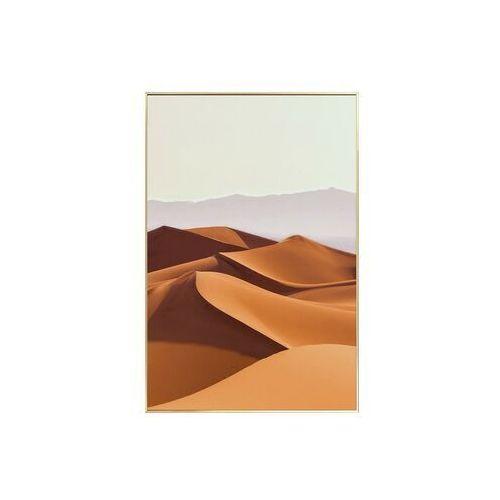Obraz drukowany w ramie deserto – 60 × 90 × 2,5 cm (dł. × szer. × wys.) – kolor pomarańczowy marki Vente-unique