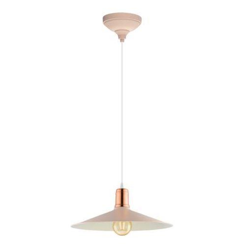 Lampa wisząca Eglo Britport-P 49031 zwis 1x60W E27 pastelowa morela/miedź