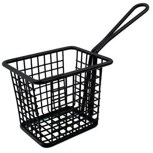 Koszyk na frytki kwadratowy czarny | 10x8x(h)8cm marki Olympia