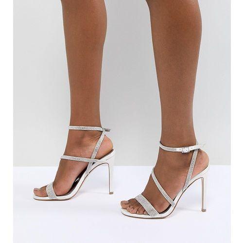 Asos design hartly bridal embellished heeled sandals - cream