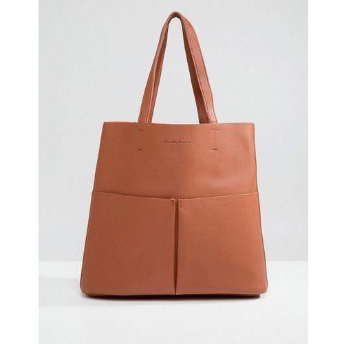 Claudia canova tote bag with front pocket - tan