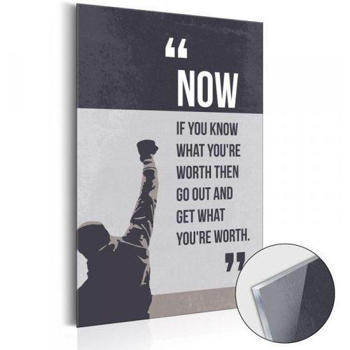 Obraz na szkle akrylowym - Life Manifesto: Know Your Value [Glass]