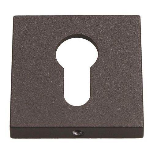 Szyld drzwiowy Gamet kwadratowy na wkładkę grafitowy strukturalny, PLT-26J-Y-LPS01-KW