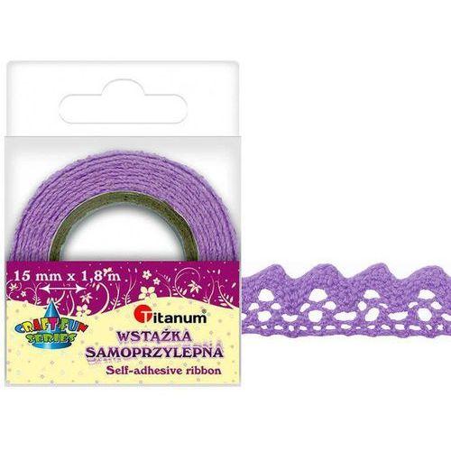Koronka samoprzylepna taśma fioletowa 15mm 1,8m - fioletowy marki Titanum